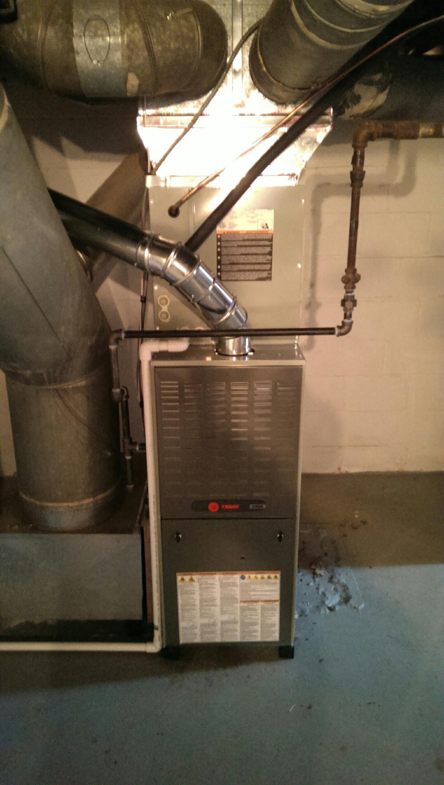 Reynoldsburg, OH - installed trane furnace and AC in Grandview .