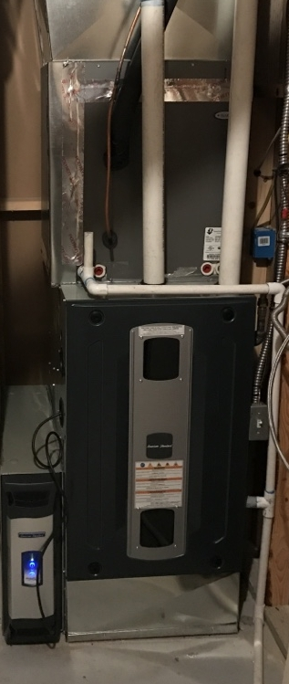 Columbus, OH - Trane S9V2 Direct vent ultra high efficient Multi-stage variable speed gas furnace With Aprilaire 500 humidifier  Fall heating system maintenance tune up cleaning and Safety inspection Prestwick Green Drive Columbus, OH 43240