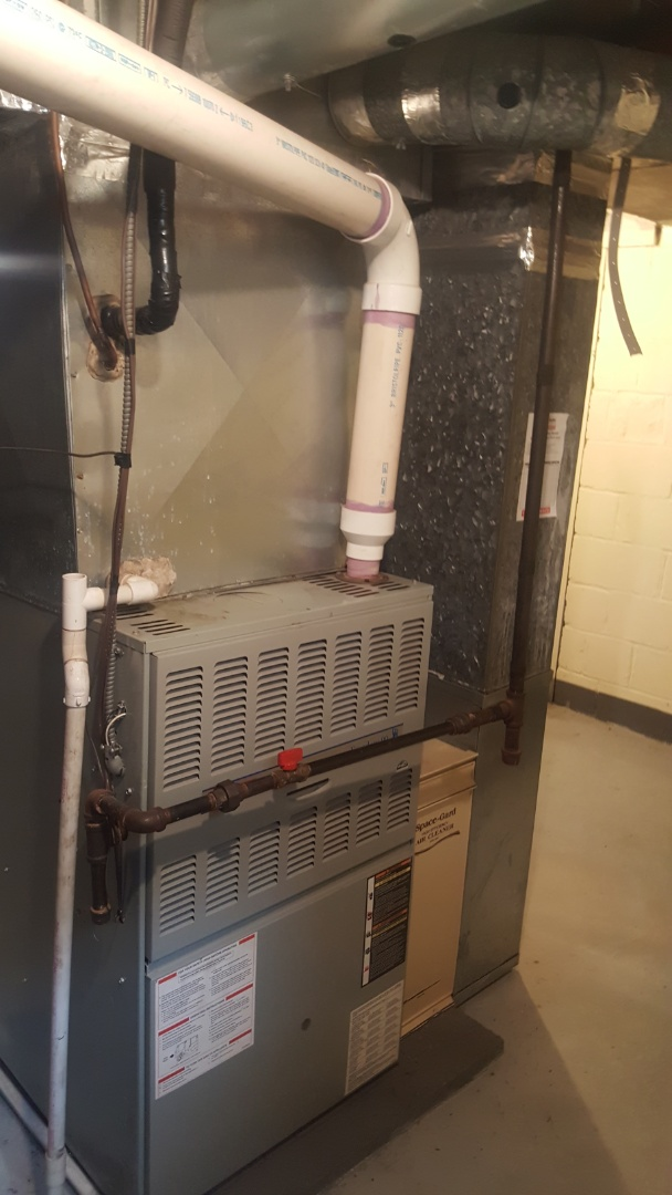 Columbus, OH - High-efficiency in direct vent American Standard 90% Preventive maintenance tune up And Aprilaire 600 humidifier Cleaning and setup