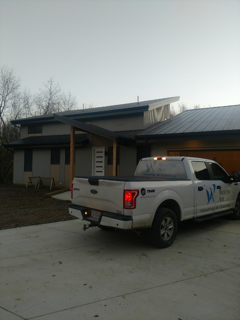 Galena, OH - Trane furnace and air conditioner installation in new construction home in Galena.