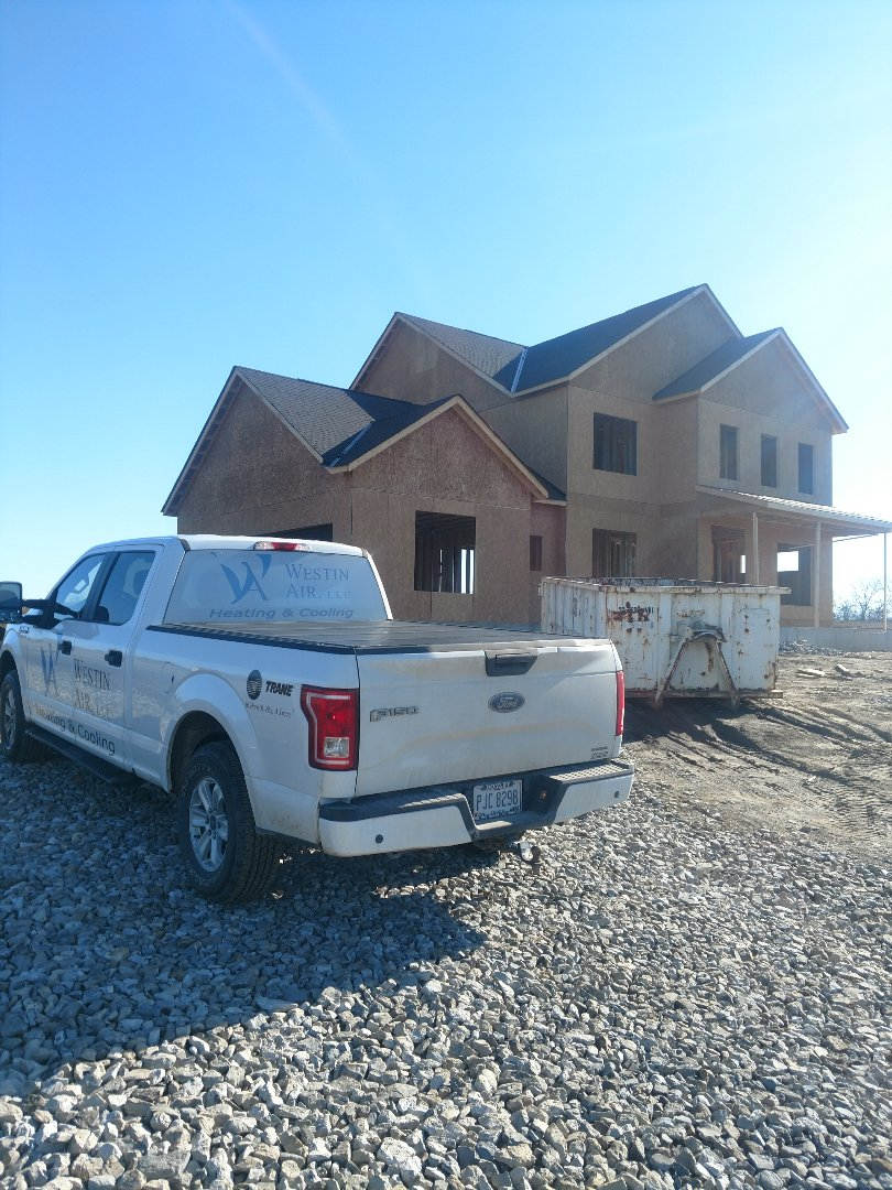 Galena, OH - Marking out 3 Pillar new construction home near Galena.