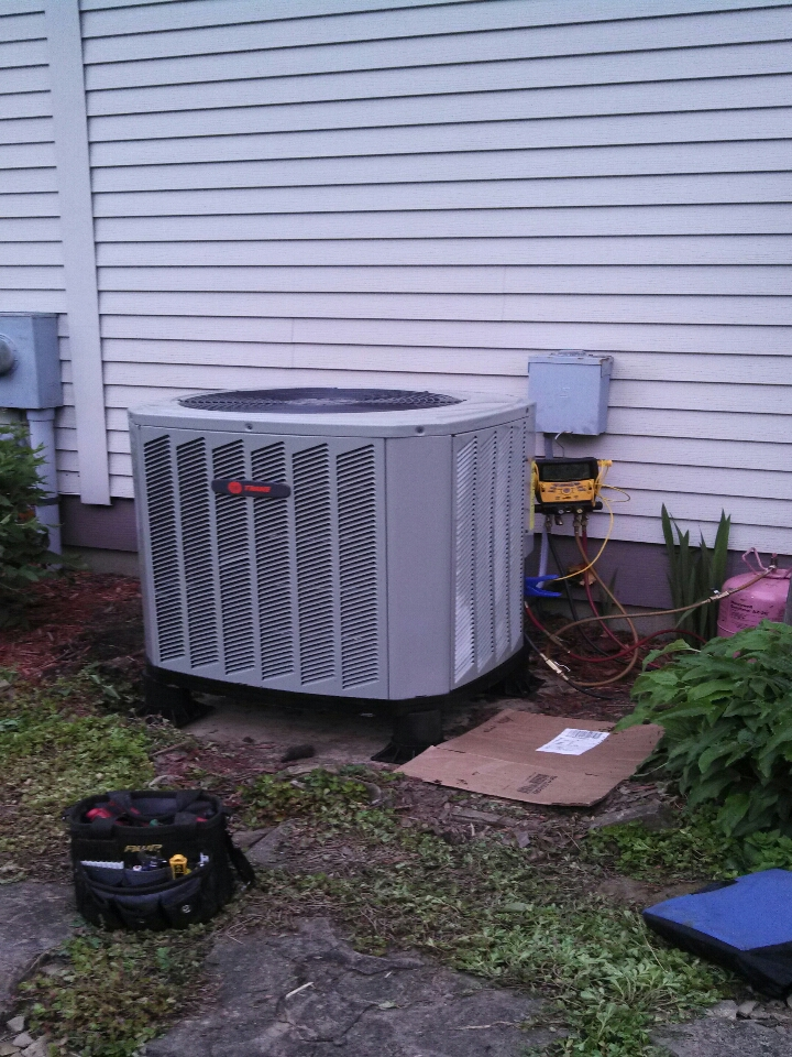 Reynoldsburg, OH - installing Trane heat pump and air handler