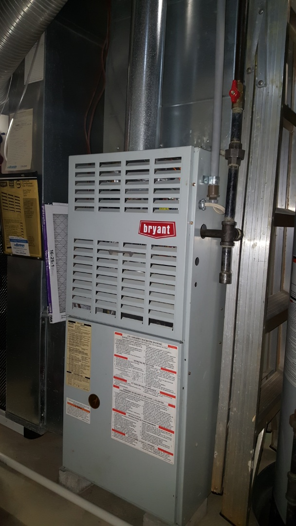 Westerville, OH - Standard efficiency 1997 Bryant gas furnace safety inspection and operational run test Camargo Court Westerville, OH 43082