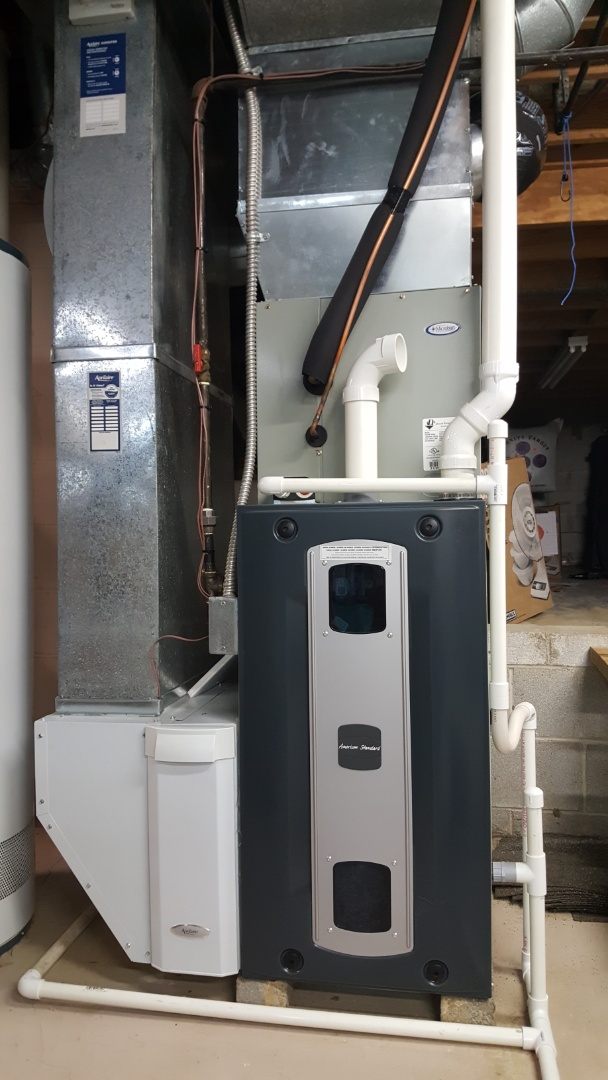 Powell, OH - American Standard 96% s9v to high-efficiency furnace  Airflow inspection gas pressure adjustment and high temperature lockout repairs Glenside Lane Powell, OH 43065