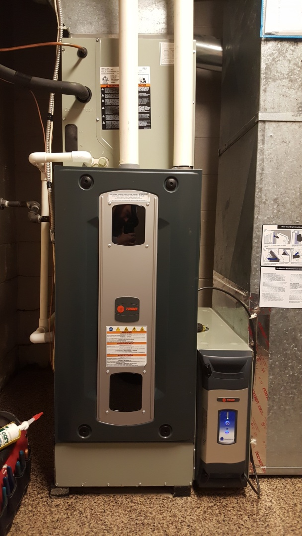 Galena, OH - Trane S9V2 Ultra high-efficiency 2 system heating preventive maintenance tune-up and claiming  Wash And clean Trane Clean Effects air purifier  Minor service bulletins repairs Lake Of The Woods Point Galena, OH 43021