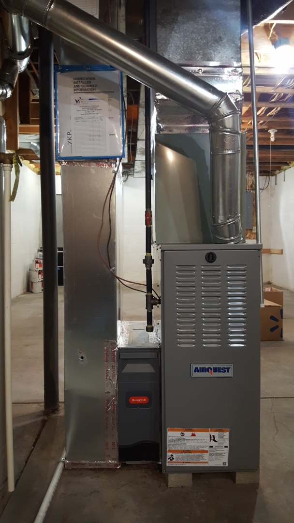 Lewis Center, OH - Airquest standard efficiency furnace Trane high efficiency Cooling  Removal of debris in blower assembly Arden St. Lewis Center, OH 43035