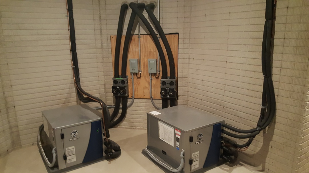 Galena, OH - Two system waterfurnace Envision geothermal heating and cooling  Installation and operations test. Refrigerant recharge Woodhaven Dr. Galena, OH 43021