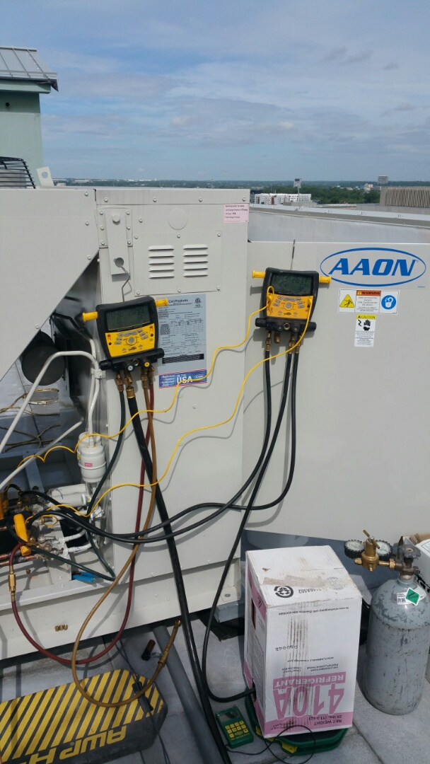 Columbus, OH - Start up on Aaon make up air system. Air Conditioning for humid 90 deg outside air.