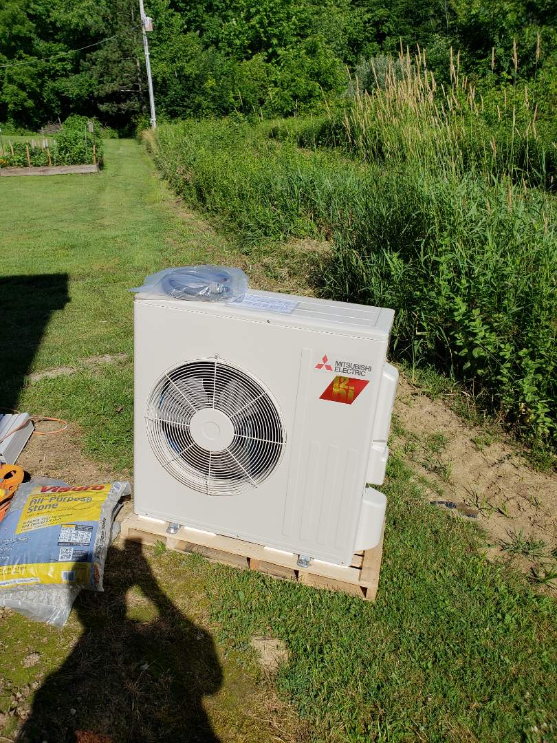 Mount Vernon, OH - Installing Mitsubishi ductless heatpump in workshop.