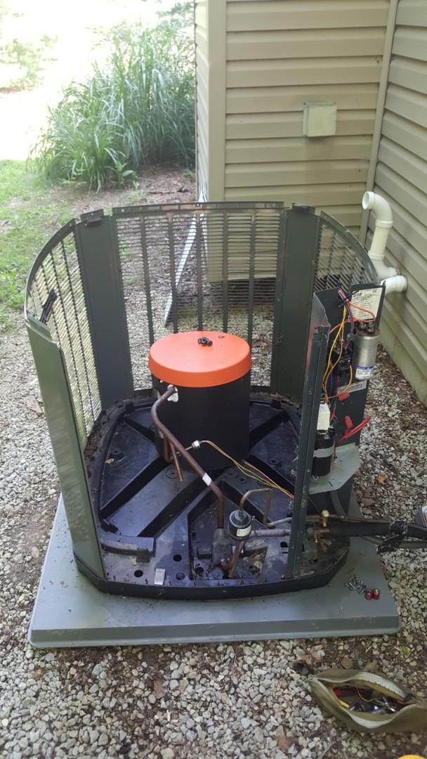 Galena, OH - Trane XR air conditioner condenser coil Leak repair