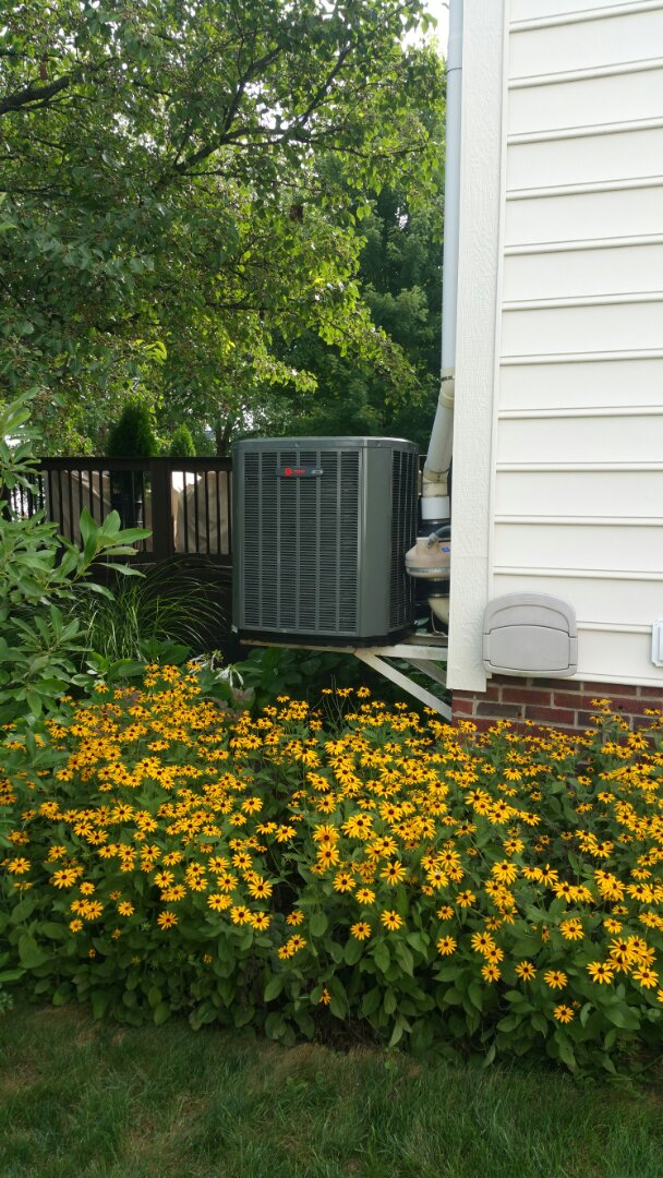 Powell, OH - Installing a Trane XR16 Air Conditioner installation.