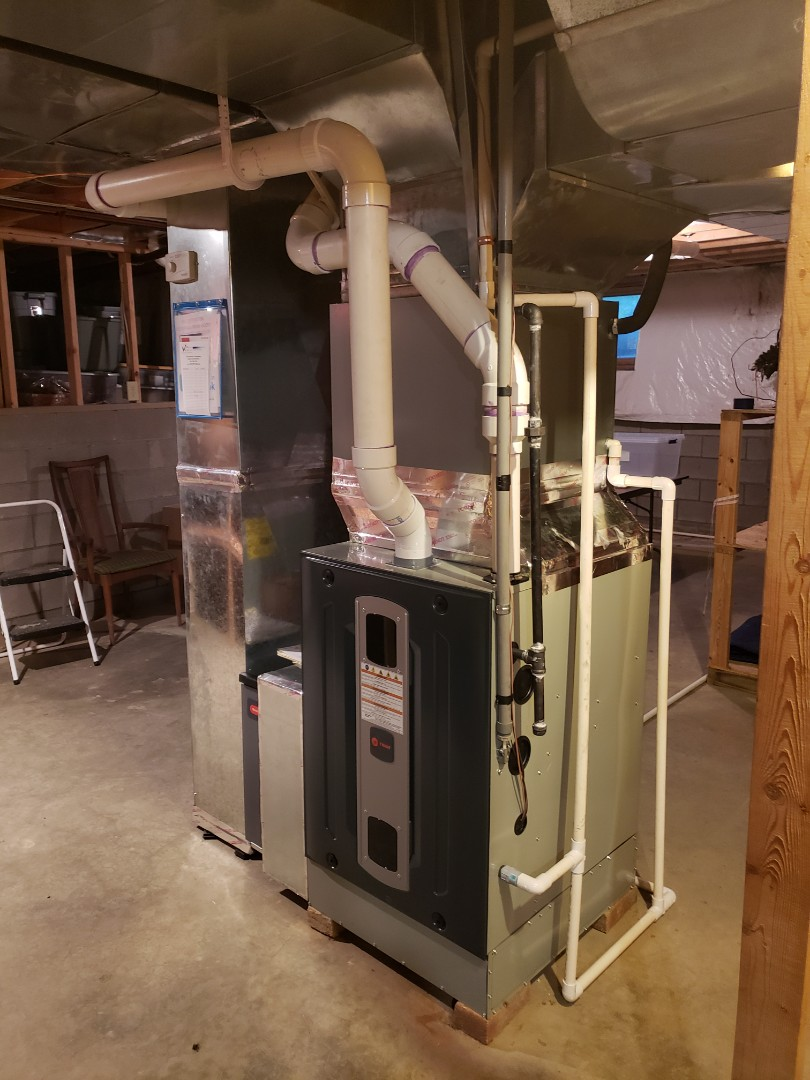 Sunbury, OH - Installing Trane gas furnace  near Sunbury.