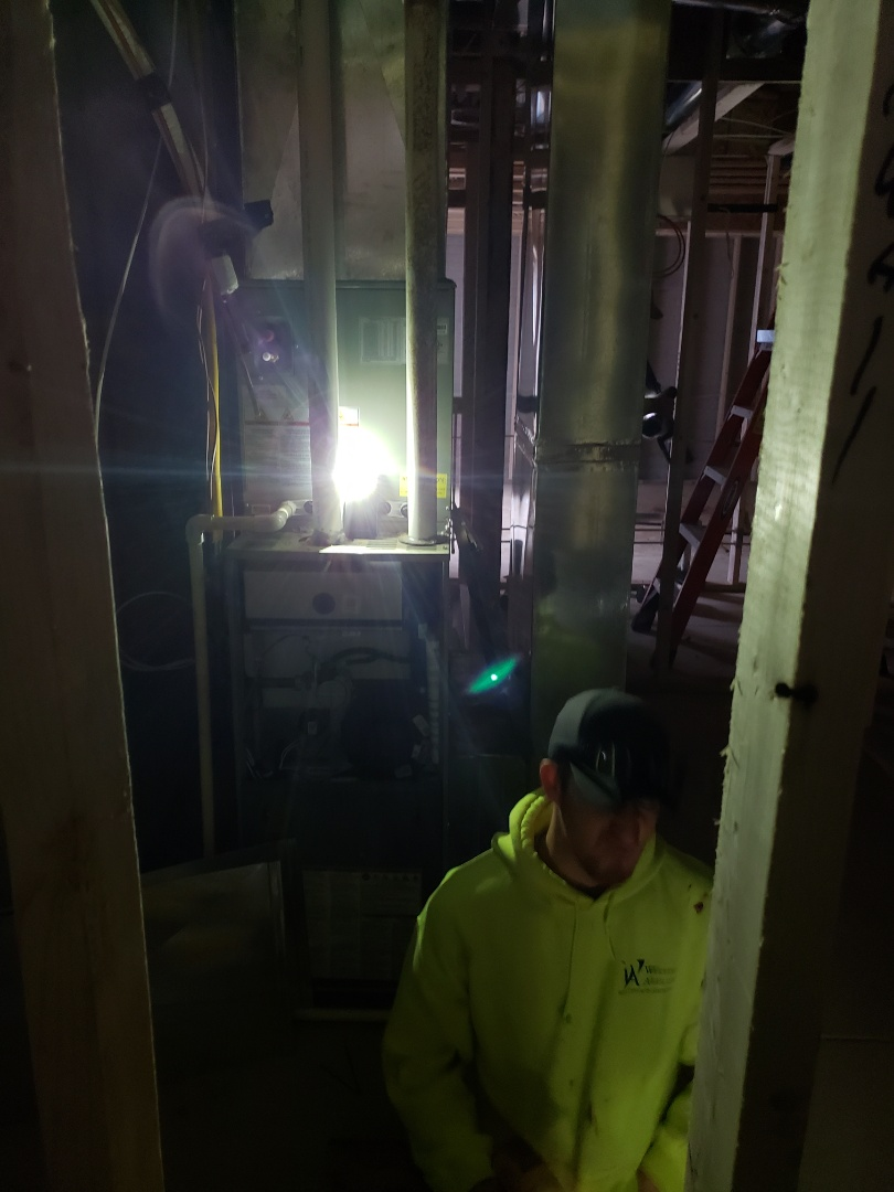 Lewis Center, OH - Installing Trane furnace in new construction 3 Pillar home in Evan's Farm near Lewis Center.