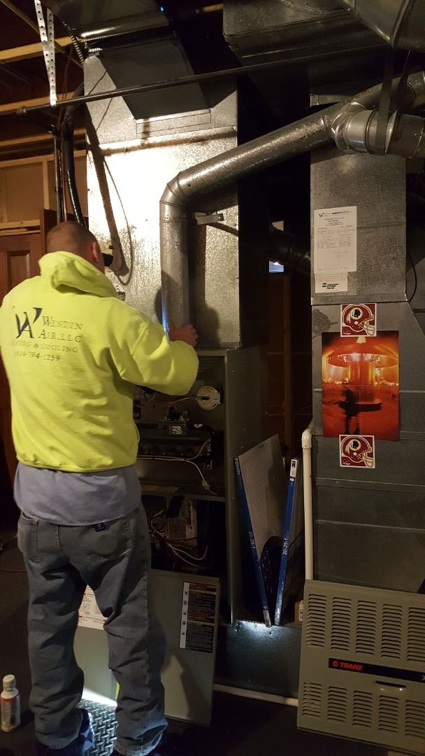 Dublin, OH - Heating system maintenance  Furnace flue cleaning and inspection