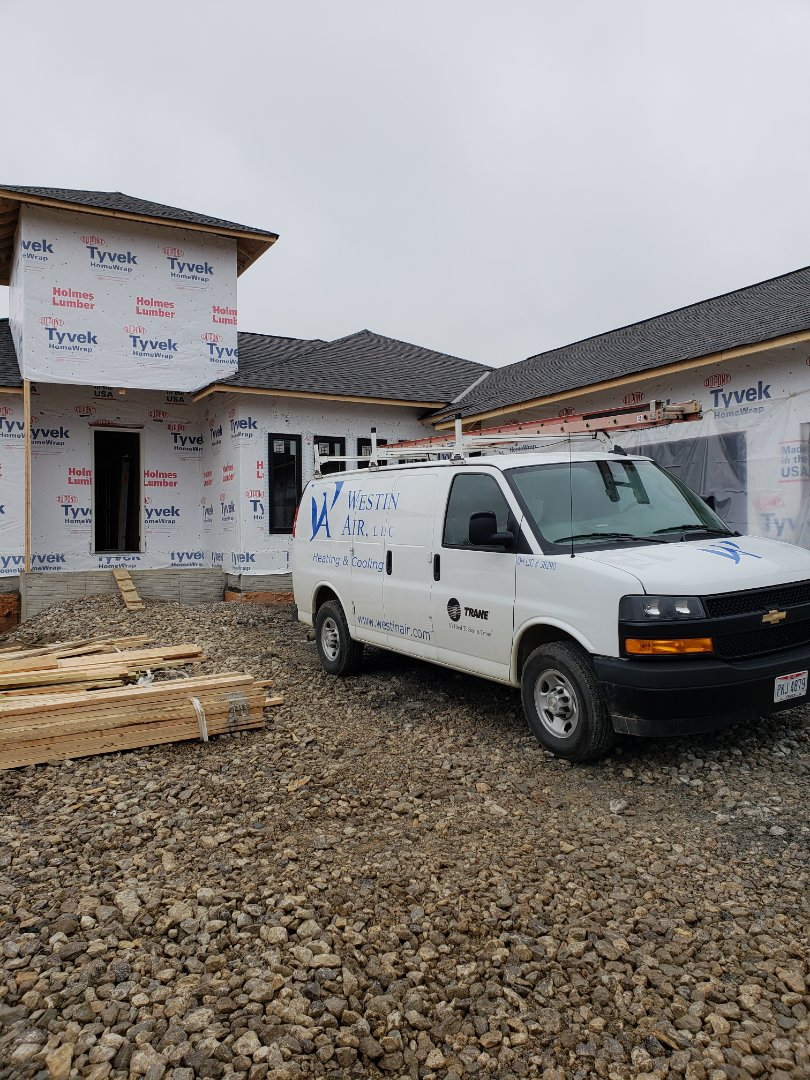 Dublin, OH - Installing Trane furnace in new construction 3 Pillar home near Dublin.