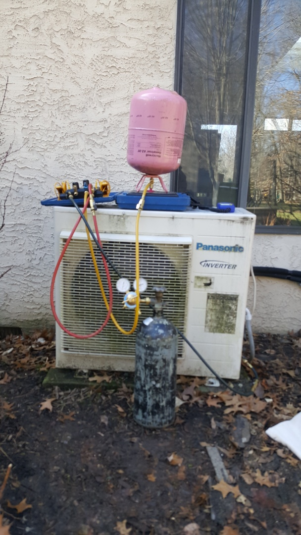 Delaware, OH - Panasonic mini split heat pump. Compressor repairs and recharge Duddingston Drive Dublin, OH 43017