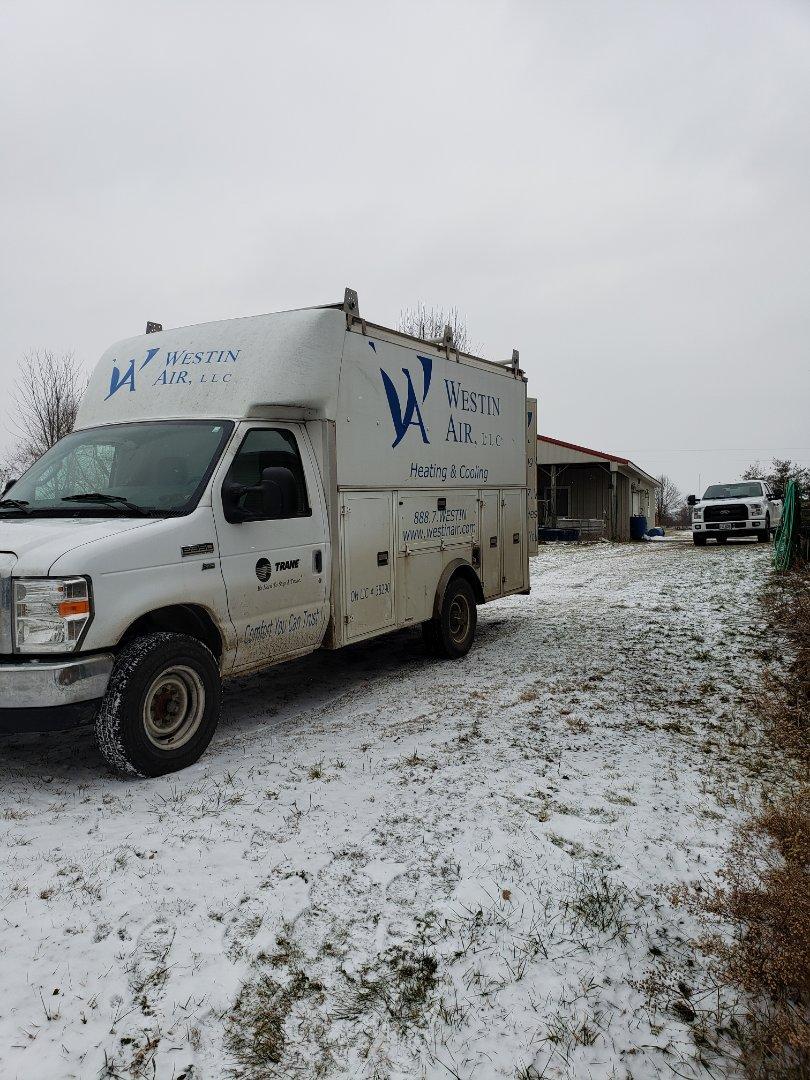 Mount Vernon, OH - Installing Tempstar gas furnace near Centerburg.