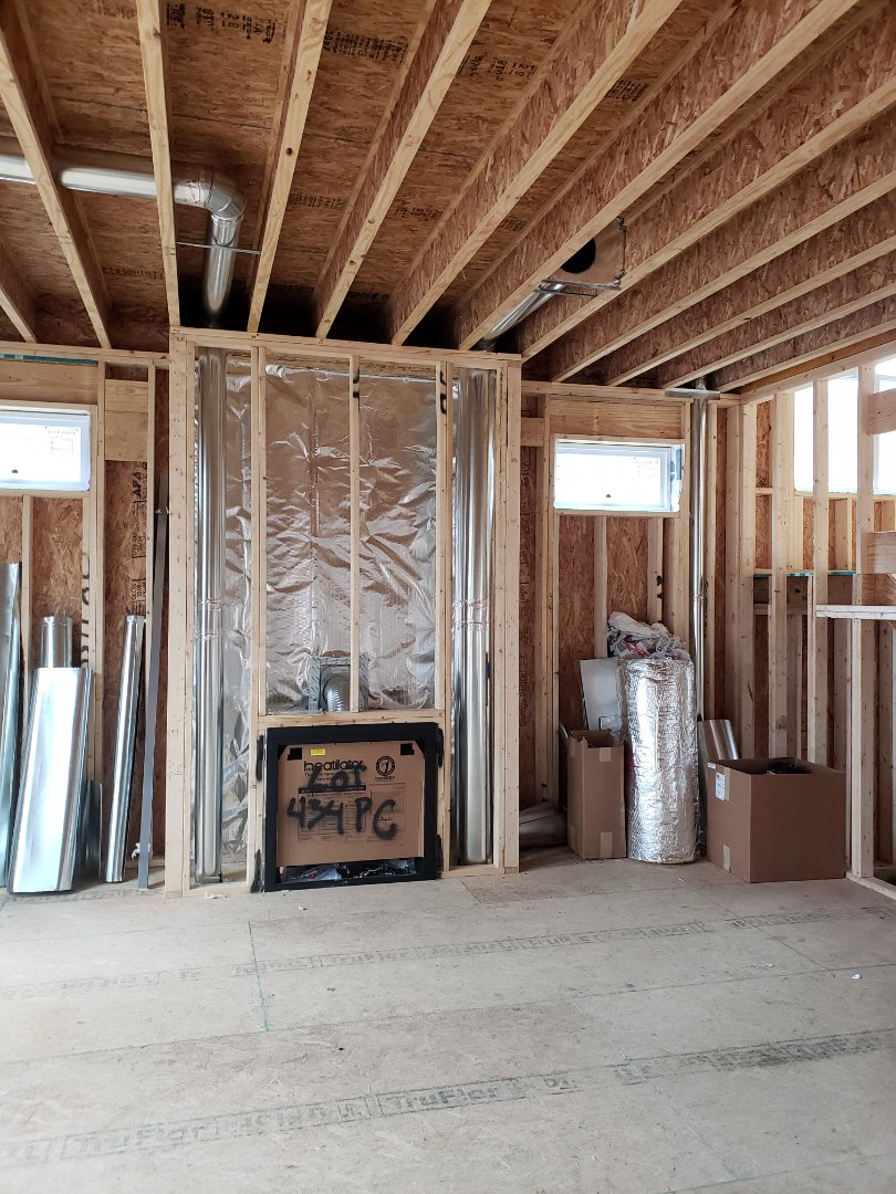 Columbus, OH - Installing ductwork in 3 Pillar new construction home.