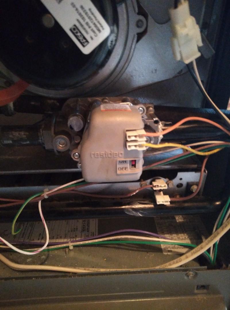 Replaced gas valve