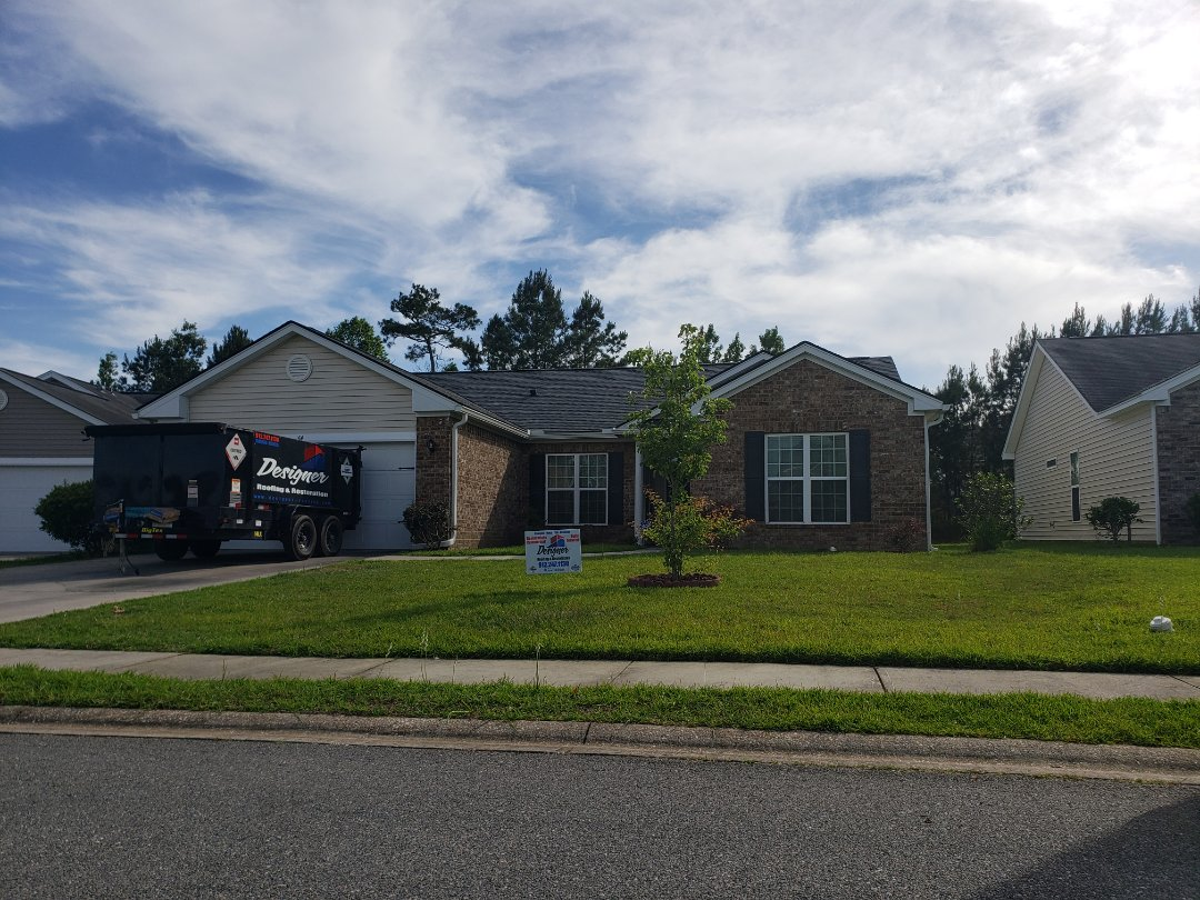 Pooler, GA - Finishing up another great roof installation in Pooler after the recent windstorms.  Thank you for your business Mrs. Pam!!