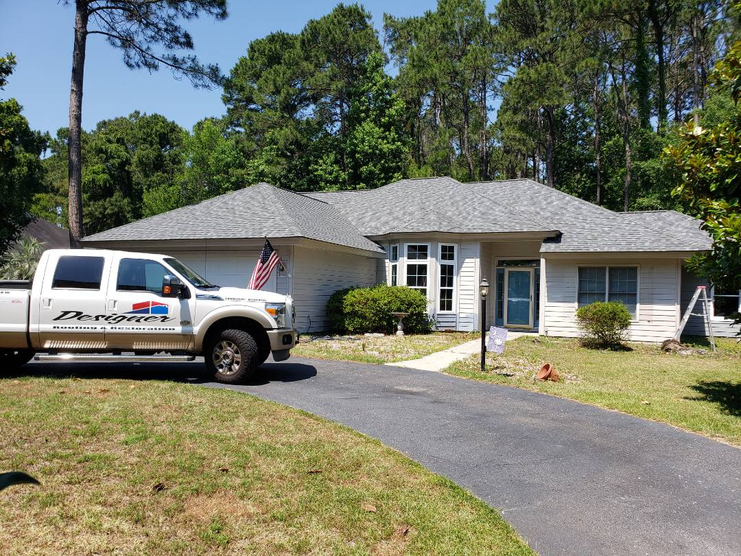 Bluffton, SC - Another beautiful re-roof in Landmark Pro Pewter