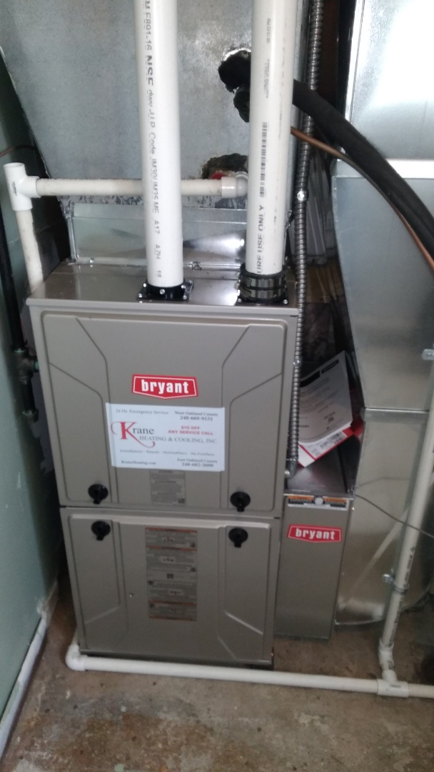 Waterford Township, MI - Install the 60,000 BTU Bryant Evolution furnace