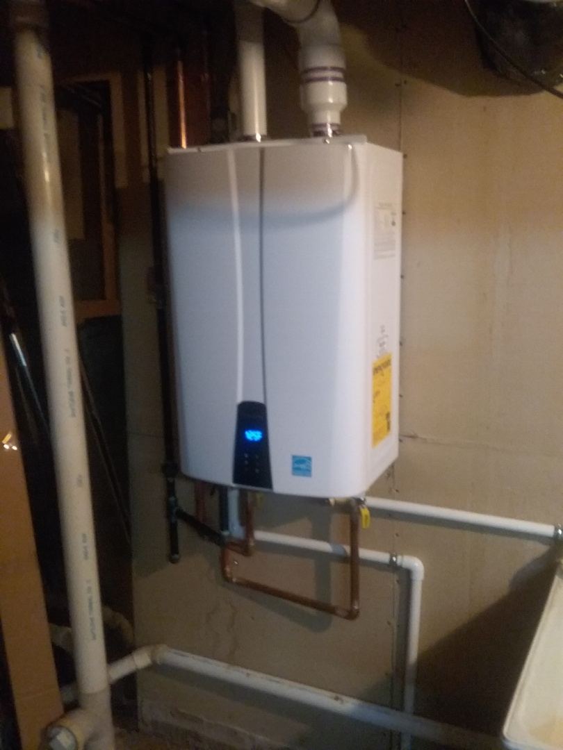Finished with an on demand water heater