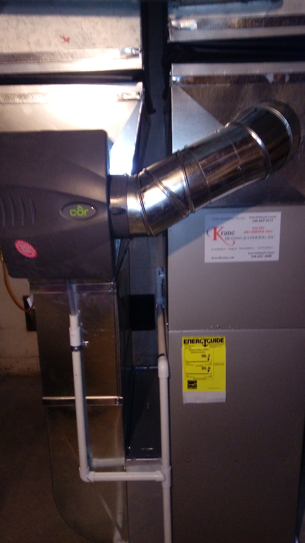Installed a Bryant 96% efficiency furnace
