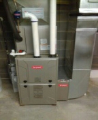 Installed a 96% efficient Bryant furnace and a 2-ton Bryant air conditioner
