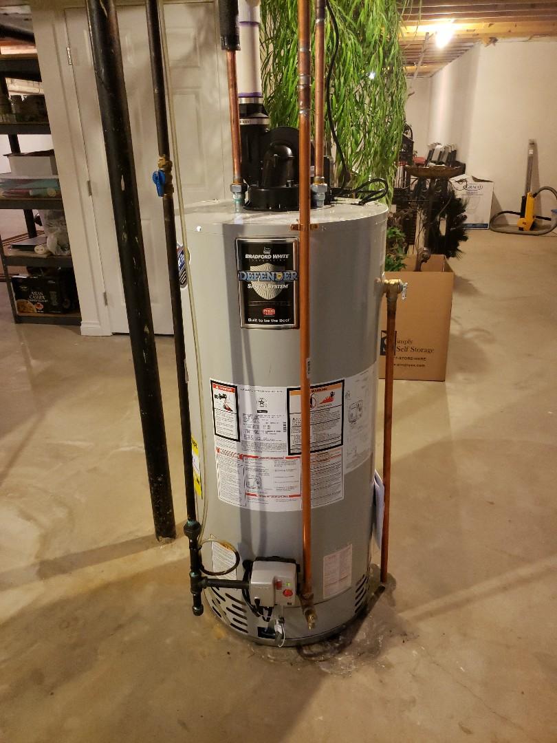 Commerce Charter Township, MI - 50 gallon power vent Bradford White