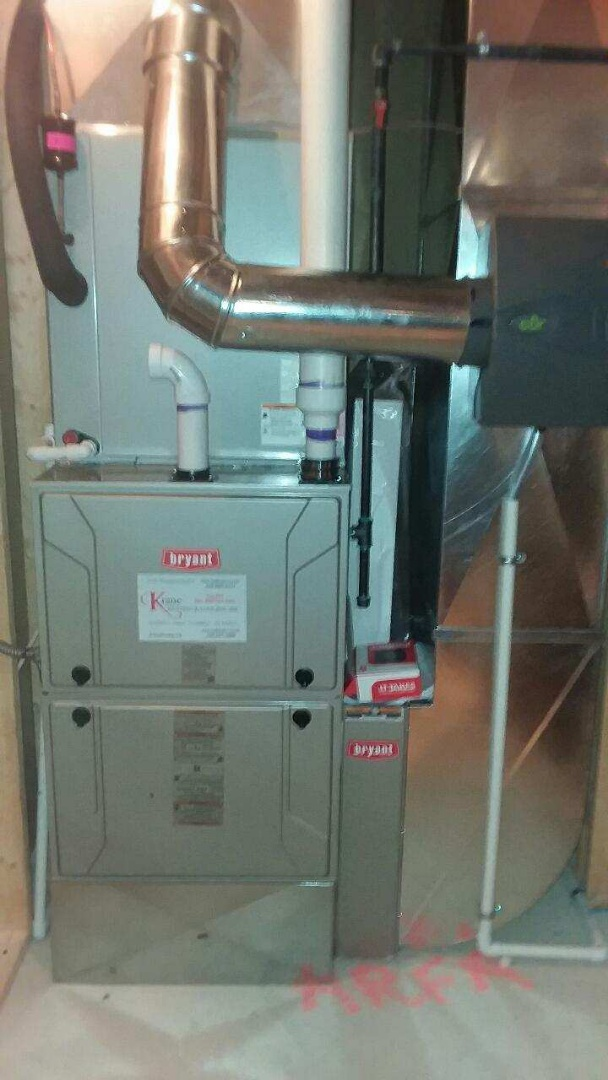 Rochester Hills, MI - Installed a 96% Bryant Evolution furnace and a/c