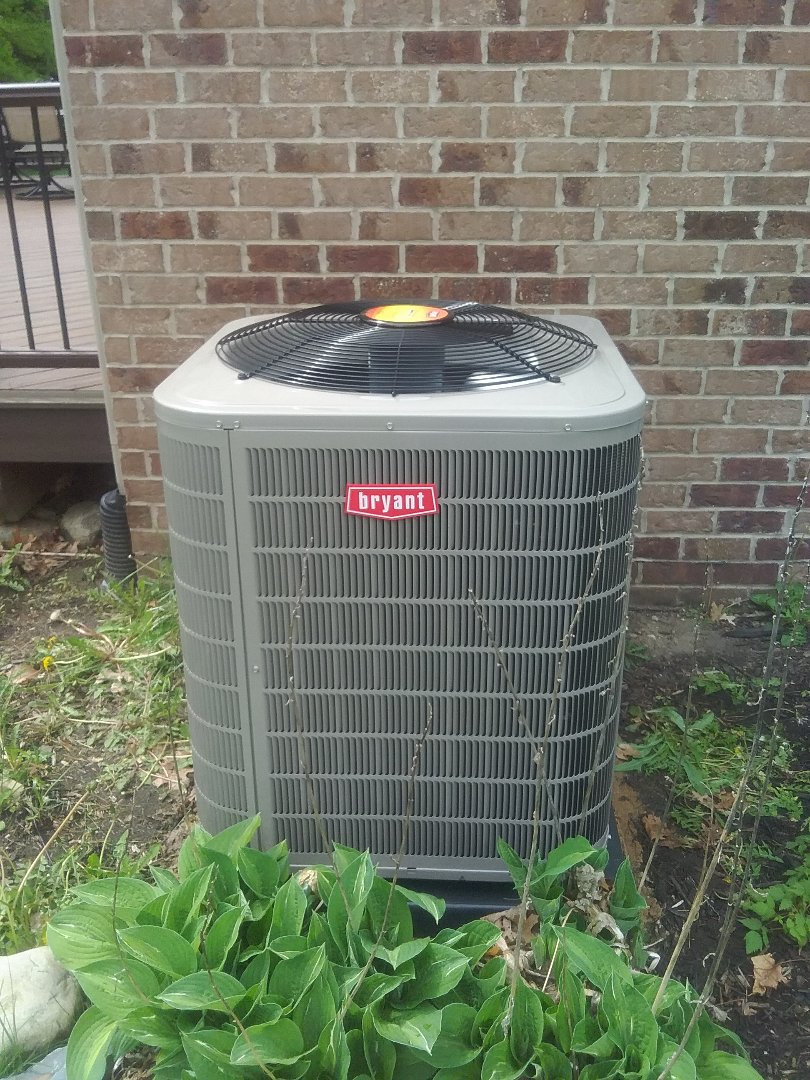 Commerce Charter Township, MI - Just finished a Bryant air conditioner