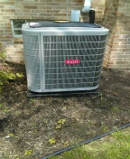 Installed a 4-ton Bryant air conditioner