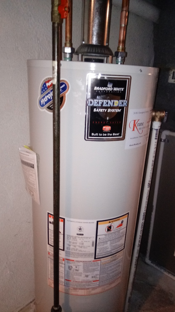 Waterford Township, MI - Installed a Bradford White 40 gallon water heater