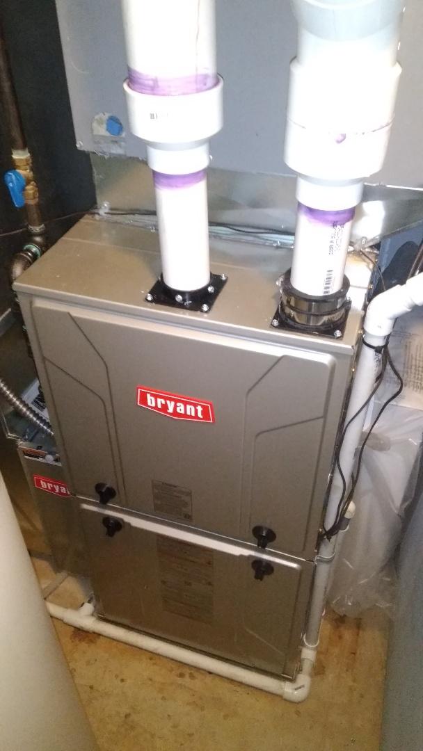 Clarkston, MI - Installed an 80000 BTU Bryant furnace