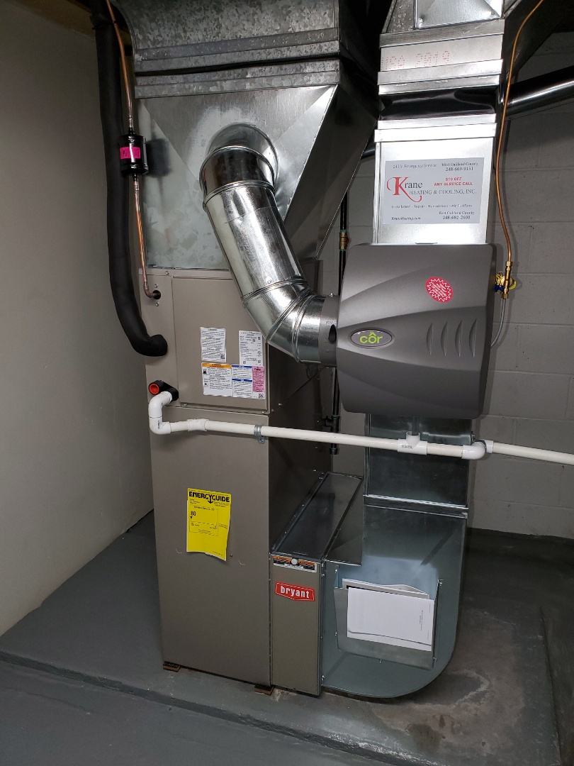 Installed a 80% Bryant furnace