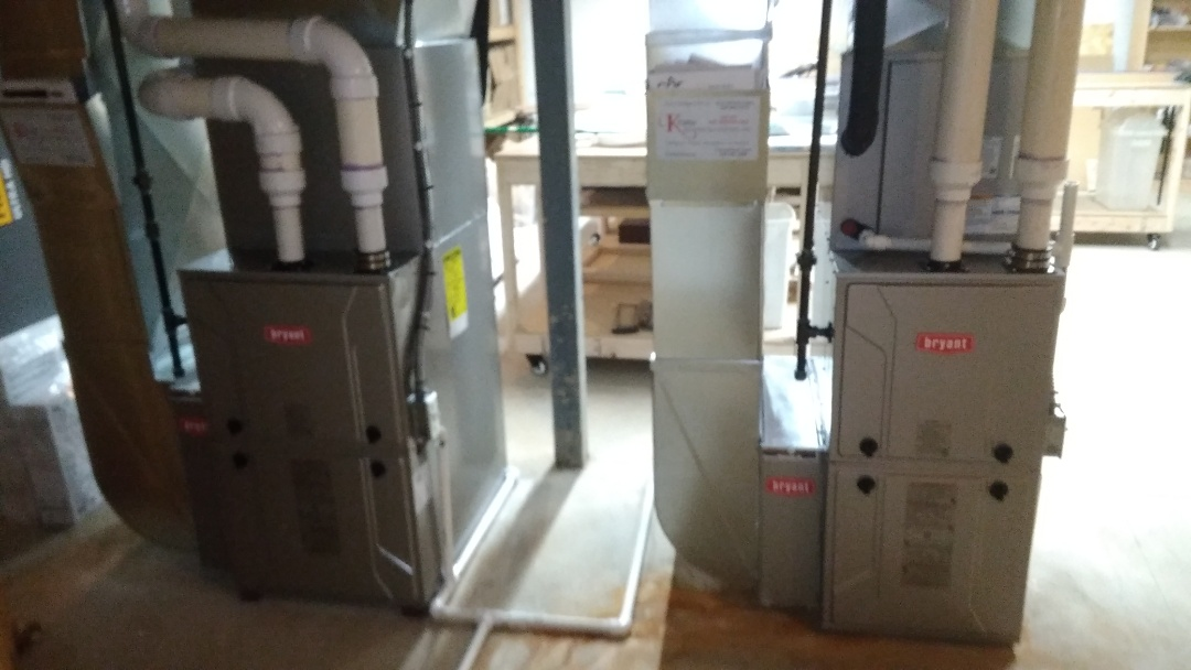 Birmingham, MI - Installed a hundred thousand and a 80,000 BTU Bryant furnaces
