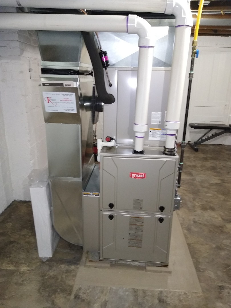 Installed a Bryant high efficiency furnace and air conditioner