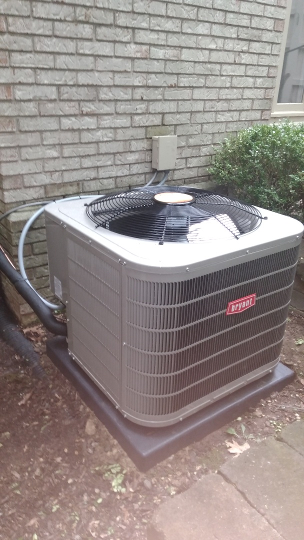 Install the 3 ton Bryant air conditioner