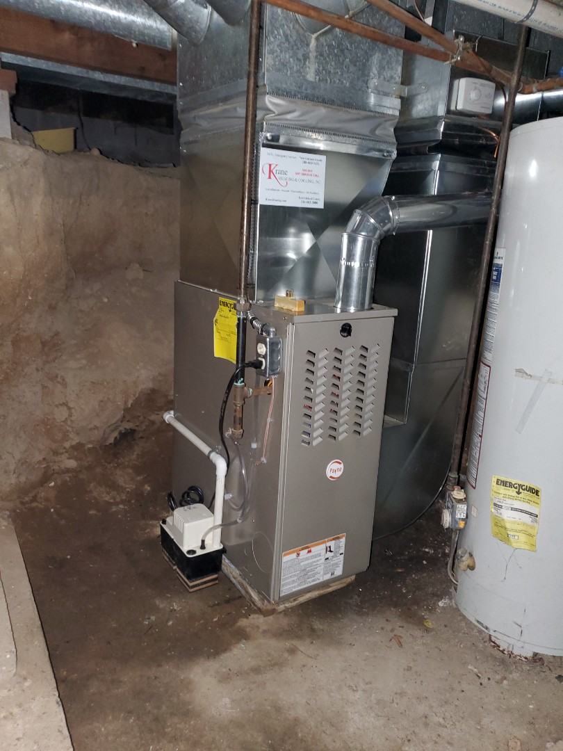 Installed 8 pain 80% efficient furnace
