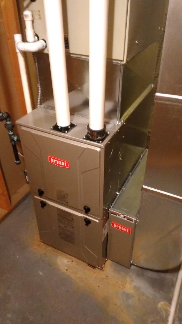 White Lake charter Township, MI - Installed an 80000 BTU Bryant furnace 96% efficient