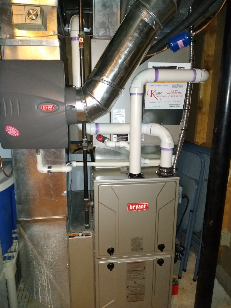 Bloomfield Hills, MI - Installed a Bryant 98% efficient furnace