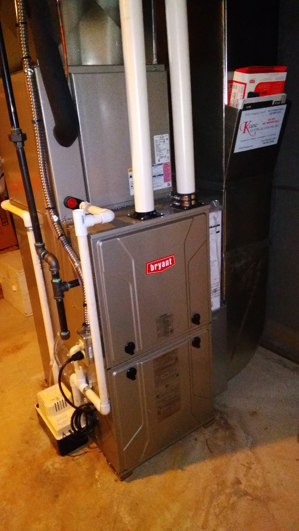 Independence charter Township, MI - Installed an 80000 BTU Evolution Bryant furnace