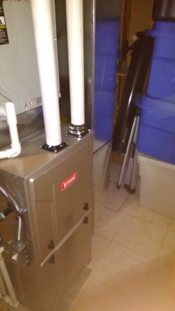 Milford Charter Township, MI - Installed an 80000 BTU Bryant furnace
