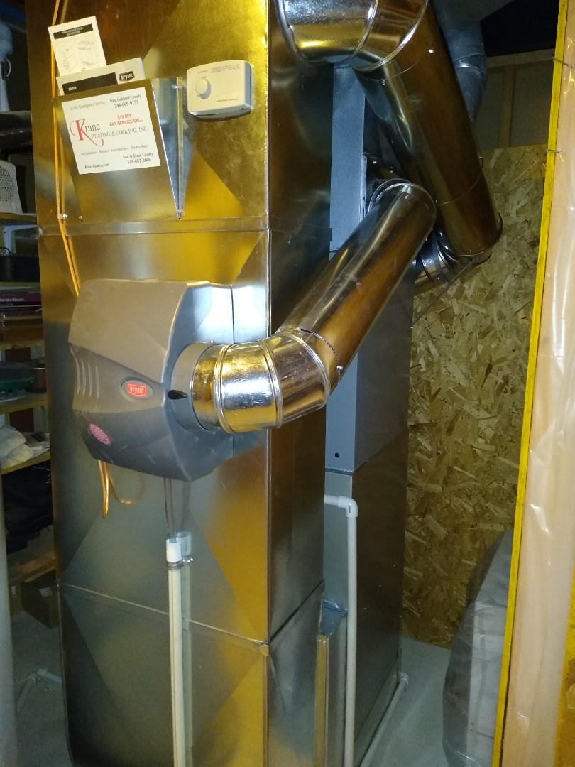 White Lake charter Township, MI - Installed a Bryant 96% efficient furnace