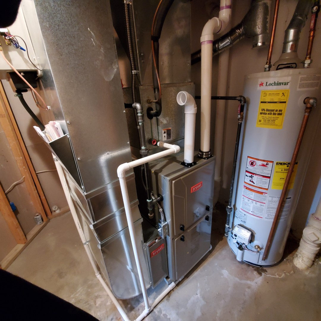 Novi, MI - Installed a 96% efficient Bryant furnace