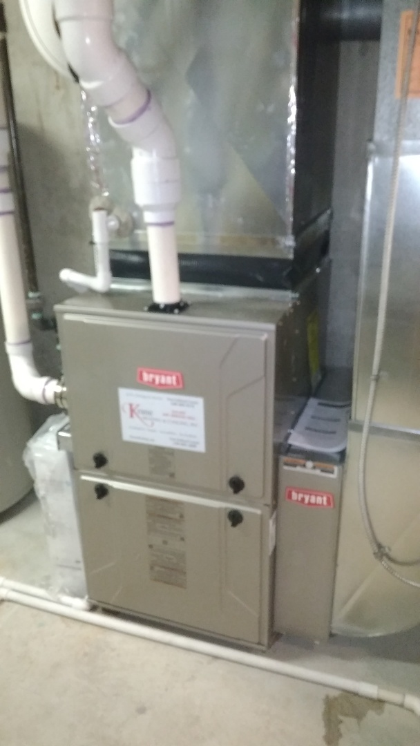 Commerce Charter Township, MI - Installed a hundred thousand BTU Bryant furnace