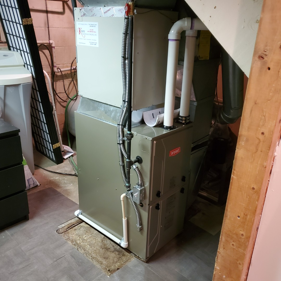 Commerce Charter Township, MI - Installed A 96 percent efficient Bryant Furness