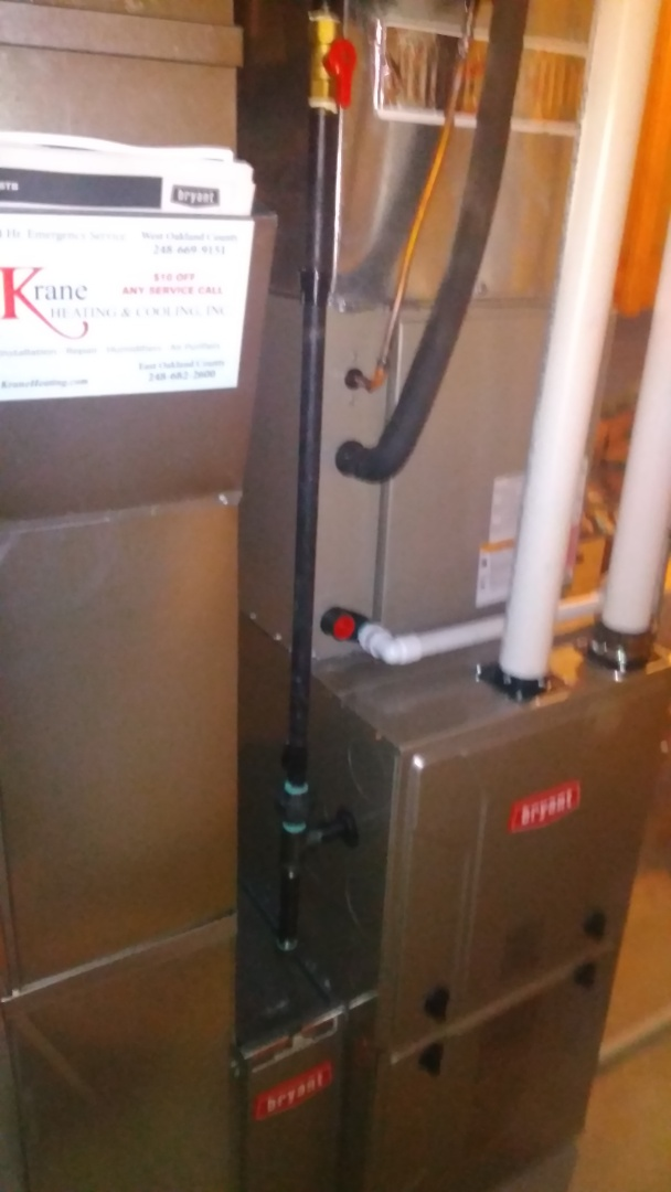 White Lake charter Township, MI - Installed an 80000 BTU Bryant furnace