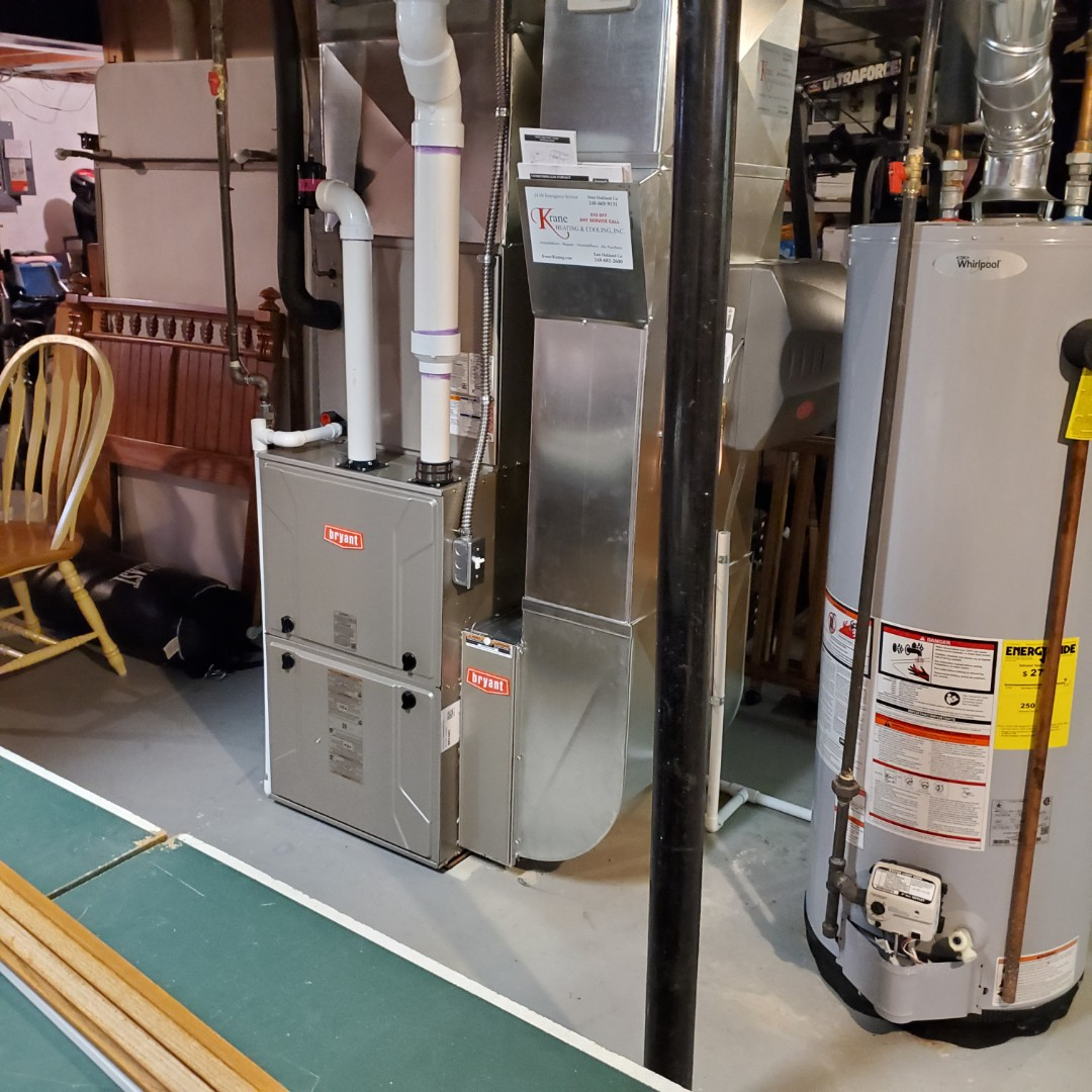 Commerce Charter Township, MI - Installed a 96%Efficient Bryant furnace